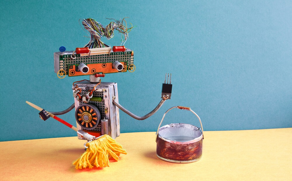 Data cleaning robot